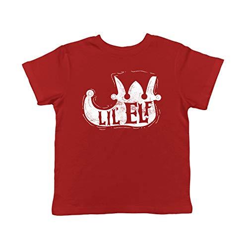 Crazy Dog Tshirts - Toddler Lil Elf Shoe Tshirt Cute Christmas Santas Helper Tee for Kids (Red) - 2T - Youth - 2T Santas Lil Elf