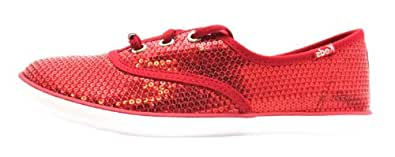 Size 5 Keds Girl's Champion K Red Textile Casual Shoes