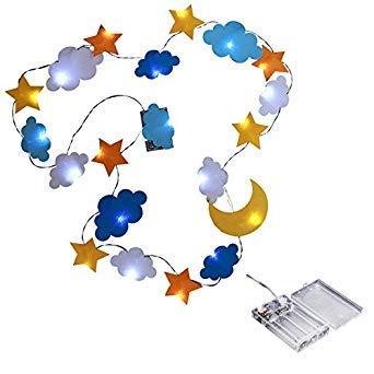 SODIAL LED Dekorative Lampe Stern Mond Wolke dekorative Licht Vliesstoffe Urlaub Kinderzimmer Zelt dekorative Lichter