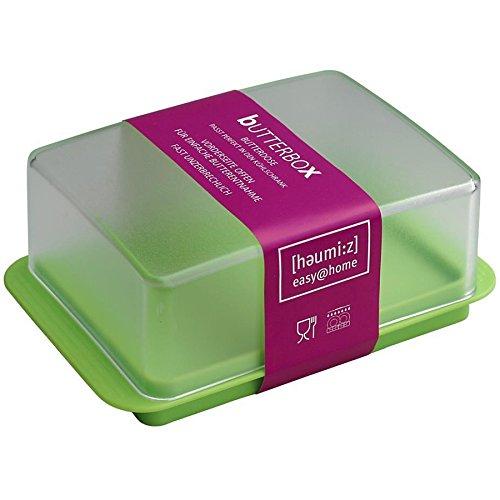 HomeXpert 302304 Beurrier Plastique Vert 13,8 x 9,0 x 5,2 cm