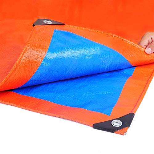 GDMING Telone Impermeabile for Esterno con Occhielli Polipropilene Tessuto Telo Telone Copertura al Suolo for Giardino Legna Inverno Piante Antigelo, 18 Taglie (Color : Blue, Size : 2x1m)