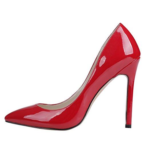 EKS - scarpe tipo décolleté con tacco alto Donna Rot-Lackleder