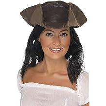 Smiffy S 25530 Sombrero De Pirata Con Aspecto De Cuero c49827bf516