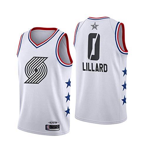 KKSY Basketball Trikot Trail Blazers # 0 Damien Lillard All-Star Edition 2019 für Erwachsene Vintage Fitness Tank Top,L