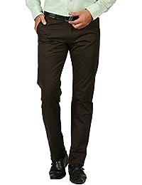 TIBRE Men's Cotton Slim Fit Trousers