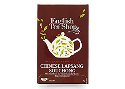 English Tea Shop Thé Noir Lapsang Souchong Bio 20 Sachets 0.12 kg - Lot de 3