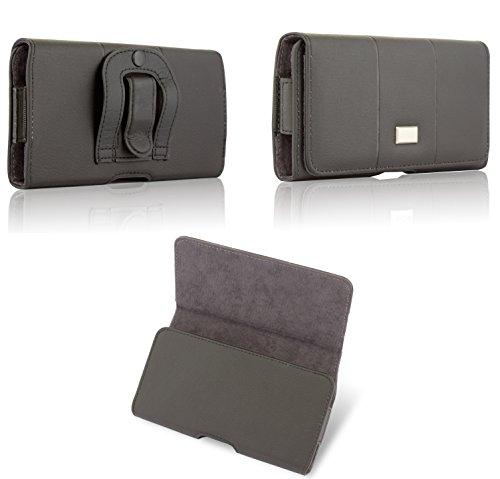 BRALEXX elegante Quertasche Gürteltasche Handy Hülle Etui Case Clip Belt Schutz Bag (max. 152 x 78 x 15 mm) - S4 Galaxy Max Fall 4
