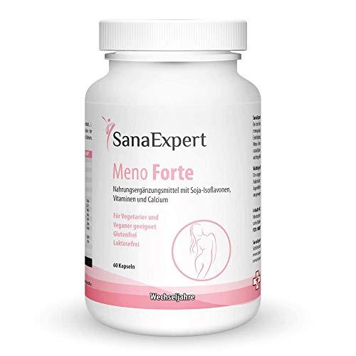SanaExpert Meno Forte, Multivitamin für Frauen in der Menopause, Soja-Isoflavone, Vitamine und Mineralien, 60 Kapseln -