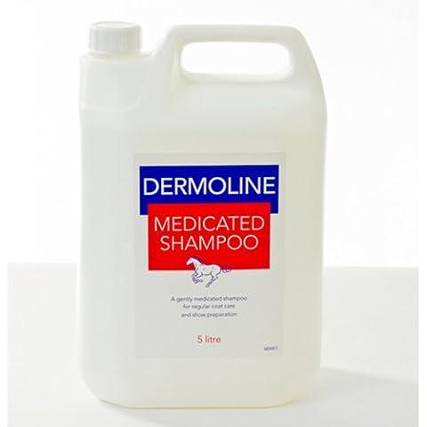Dermoline Medicated shampoo per cavalli, misure 500 ml o antibatterico, 5 litri), shampoo, balsamo e