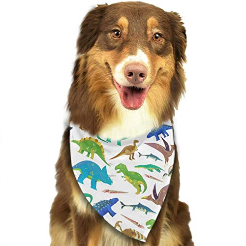 Blue Giant Dinosaur Green Washable and Adjustable Triangle Bibs for Pet Cats and Puppies ()