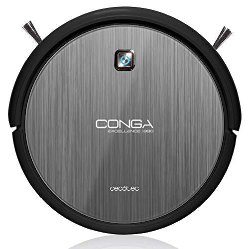 Cecotec Conga Excellence 990 Robot aspirateur nettoyage 4 en 1 Balaie, Aspire, Passe la serpillère, Nettoie le sol, Silencieux, Programmable, filtre HEPA