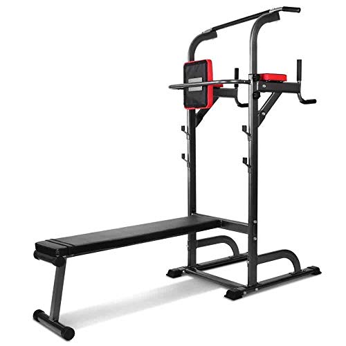 Pullup Fitness Barre de Traction Ajustable - Chaise Romaine - Station Musculation - Dips Station- Banc de Musculation Pliable- Station Traction dips Multifonctions