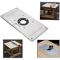 AEXU Dedicado Placa de inserción de Tabla de enrutador, Placa de inserción de Tabla de enrutador de Aluminio para Bancos de Trabajo de Madera 235 mm x 120 mm x 8 mm