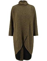 NEU Übergröße tolle Damen Karo Strick Jacke in braun bunt Gr.46,48,50