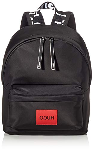 HUGO Damen Record Backpack-p Schultertasche Schwarz (Black)