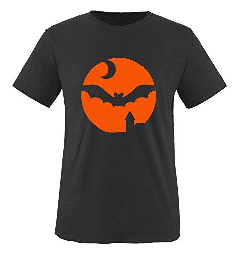 Comedy Shirts - HALLOWEEN MOND - Herren T-Shirt Schwarz / Orange Gr. (Halloween Und Clyde Bonnie)