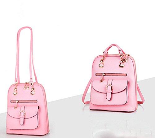 Spalle QPALZM Fashion Trend Collegio Vento Studentessa Comune Classici Selvatici Sintesi Di Temperamento Zaino Pink