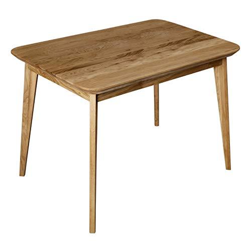 Krokwood Paris Massivholz Esstisch in Eiche 110x75x75 cm FSC100% massiv Tisch geölt Eichenholz Esszimmertisch Küche praktischer Küchentisch Holztisch vom Hersteller