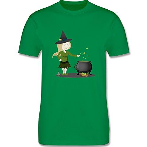 Halloween - kleine Hexe - Herren Premium T-Shirt Grün