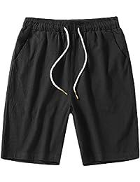 b0a737a024 GladiolusA Cargo Bermudas Hombre Pantalones Cortos De Playa Deportivos  Chinos Pantalon Lino Cintura Elástica Tamaño Grande