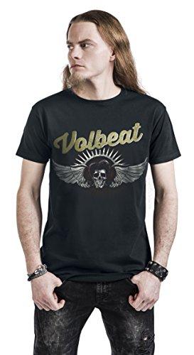 Volbeat Dark Skullwing T-Shirt Schwarz Schwarz