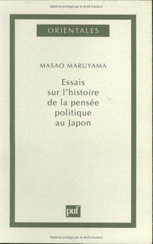 Essai sur l'histoire de la pensée politique au Japon par Masao Maruyama