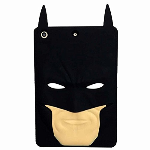 iPad Mini Fall , Phenix-Color 3D Cute Soft Silikon [Drop Proof, stoßfest, Rutschfeste] Cartoon Gel Gummi Back Cover Case für iPad Mini 1 2 3 Square Batman