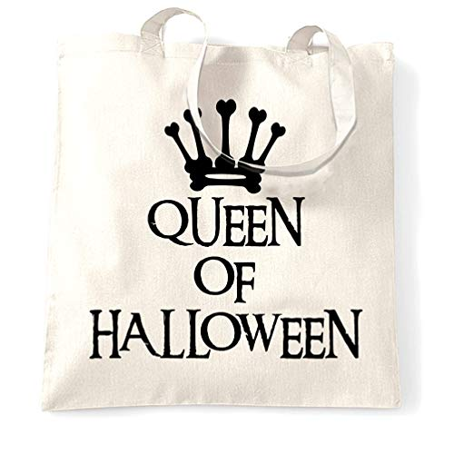 Spooky Tragetasche Queen Of Halloween Crown White One Size ()