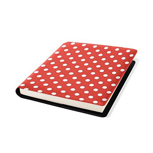 ots auf rotem Hintergrund Buch Sox Stretchable Book Cover, Passt die meisten Hardcover-Lehrbücher bis zu 9 x 11. Klebstoff-frei, Pu-Leder School Book Protector ()