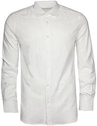 Pal Zileri Lab. Hommes Chemise manches longues Blanc 50035-01-P70L735, EUR taille:43