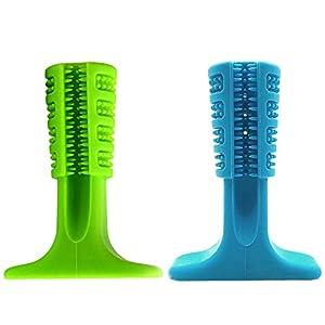 Fuitna Jouet à mâcher Chien, Version améliorée - Nettoyage de Dents entraînement Animaux à mâcher - Dent en Silicone Moulant Un Jouet apaisant apaisant Jouet résistant à la piqûre d'un Chien