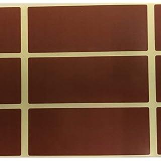 Audioprint Ltd. Pack of 60 Große 30 X 78mm Rechteck Farbcode Sticker Etiketten Farbe Wählen S - Braun, 30 x 78mm Rectangles