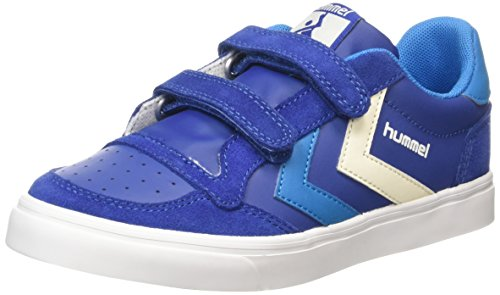 Hummel Stadil Leather Jr Lo Unisex-Kinder Low-Top Blau (Limoges Blue 8543)