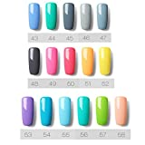 KaloryWee Lacquer Shiny Color Soak Off Range UV LED Gel Nail Polish Manicure Salon Clear Glitter