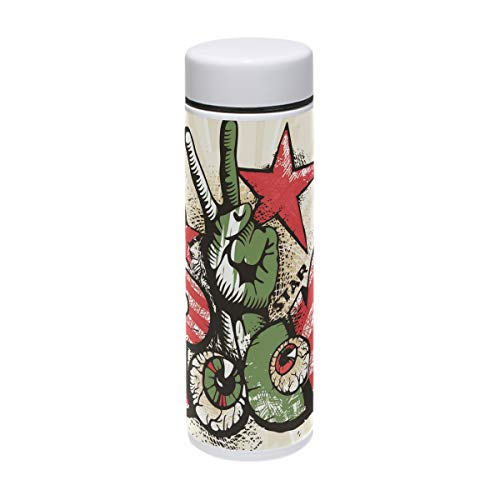 (MUOOUM Rock Star Yeah Eye Vakuum-Isolierter Edelstahl-Reisebecher Sport-Wasserflasche 19,1 ml heiß für 12 Stunden)