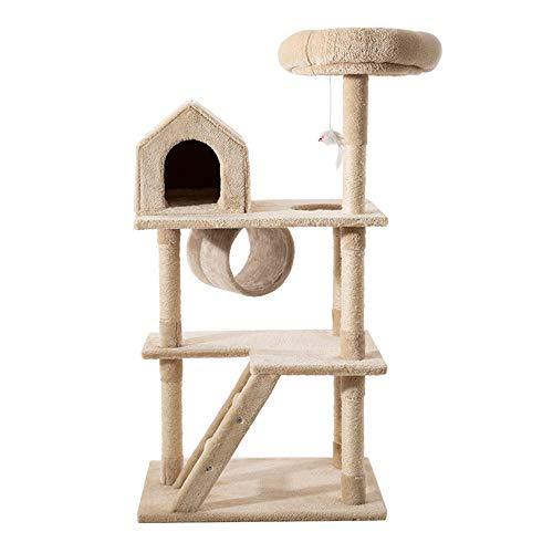 Torre per Alberi di Gatto su più Livelli, 44 Pollici Sisal con tiragraffi per Gatti Cat Condo Pet House Furniture per Gattini, stalle, Animali Domestici Play Tower House Decorazioni per la casa
