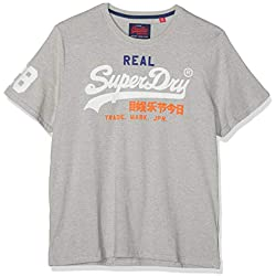 Superdry Vintage Logo Tri Tee Pull sans Manche, Gris (Montana Grey Grit Vy8), Medium Homme