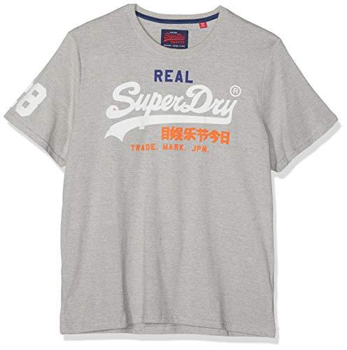 Superdry Herren VINTAGE LOGO TRI TEE T-Shirt, Grau (Montana Grey Grit VY8), XX-Large -