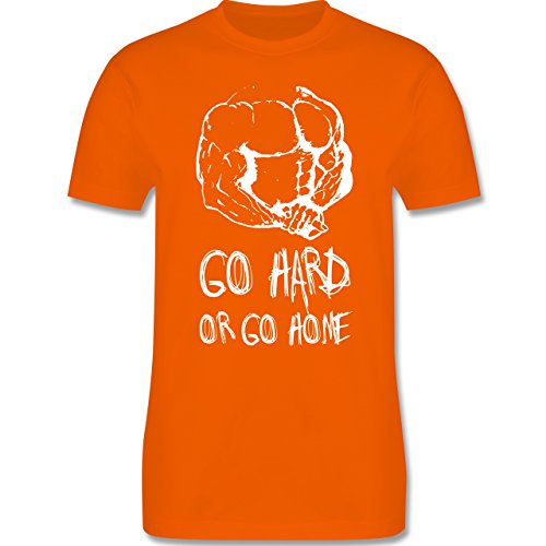 CrossFit & Workout - Go hard or go home - Herren Premium T-Shirt Orange