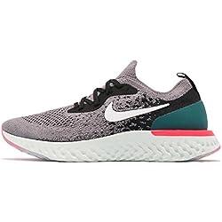 Nike Epic React Flyknit (GS), Zapatillas de Running para Hombre, (Gunsmoke/White/Black/Geode Teal 010