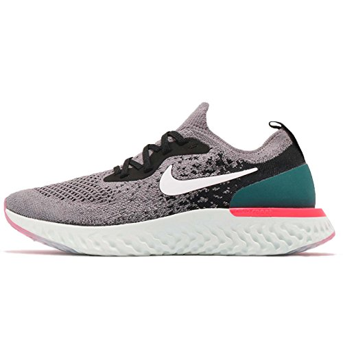Nike Epic React Flyknit (GS), Zapatillas de Running para Hombre, (Gunsmoke/White/Black/Geode Teal 010), 38.5 EU