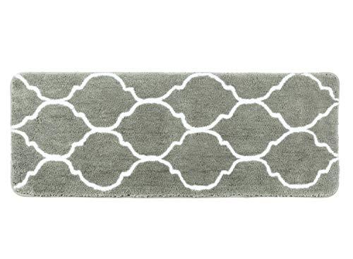 Homcomoda tappetino da bagno microfibra tappetini per il bagno antiscivolo tappeto da bagno (45cm x 120cm, grey )