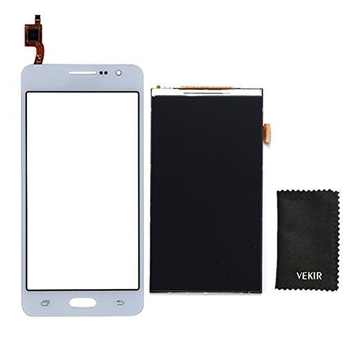 VEKIR LCD-Bildschirm Ersatz + Touch Glas-Screen-Ersatz Kompatibel mit Samsung Galaxy Groß Prime G530 G530F G5308 (weiß) Retail Verpackung