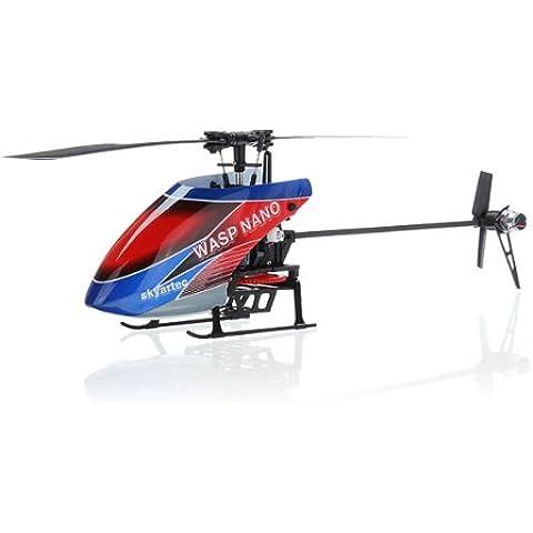 Bluelover Skyartec AVISPA NANO CPx Brushless RC helicóptero 3D BNF con caja de Color