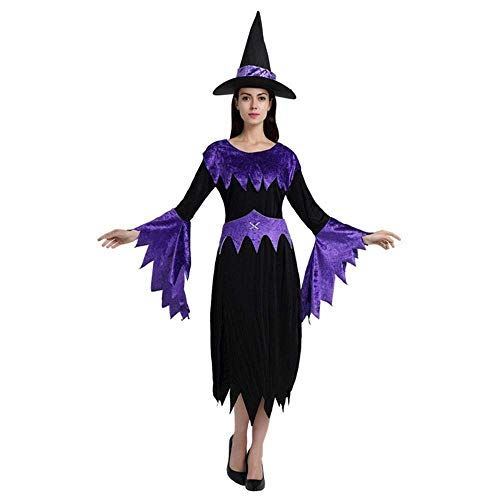 Fashion-Cos1 Frauen Zauberer Kostüm Weibliche Hexe Kostüm Sexy Phantasie Magier Performances Kleid Halloween Party Kleid