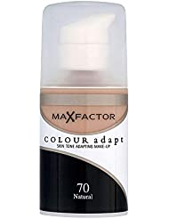 Max Factor Colour Adapt Liquid Foundation, Cream-To-Powder Lightweight Coverage Formula for All Skin Types, 070 Natural, 34 ml
