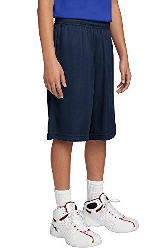Dri-Wick Youth Sport Performance Sport-Shorts, feuchtigkeitsableitend - Blau - XL -