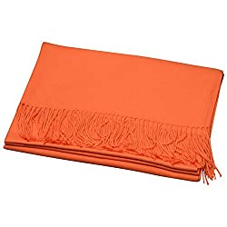 """Size:71""""x28"""" /180cm x 70cm  Womens Super Soft Cashmere Feel Wraps Large Solid Color Scarf Stole Scarf Warm Shawls for Wedding Party. 100% breathable material intended to eliminate the itchy wool crisis, and great for allergy sensitive skin! C..."""