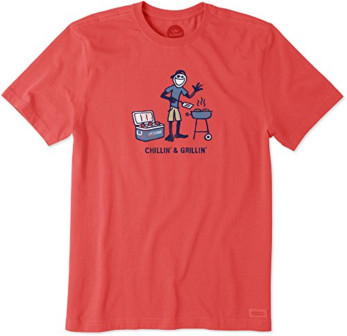 Americana T-shirt Aus Baumwolle (Life is Good Herren Crusher Tee Chilln