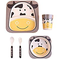 2 Stück Becher Kinder Tasse mit Henkel lustige Zoo Kindergeschirr Kuh
